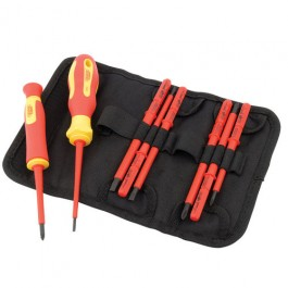 05721 - Draper expert 10 Piece VDE Approved Fully Insulated Interchangeable Blade Screwdriver Set